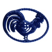 Chasseur Chasseur French Cast Iron Rooster Trivet; French Blue