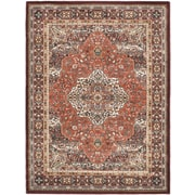 ECARPETGALLERY Copper/Dark Red Medallion Floral Rug; 5'6'' x 7'5''
