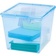 IRIS 34 Quart Deep Sweater Storage Box (Set of 10); Translucent Blue