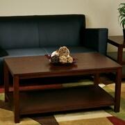 Ave Six Merge Coffee Table; Mahogany