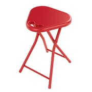 Dar Folding Stool with Handle (Set of 4); True Red