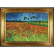 Tori Home Field of Poppies by Van Gogh Framed Hand Painted Oil on Canvas