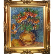 Tori Home Crown Imperial Fritillaries in a Copper Vase by Vincent Van Gogh Framed Original Painting