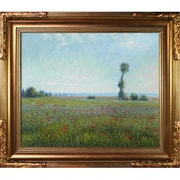 Tori Home The Fields of Poppies by Monet Framed Hand Painted Oil on Canvas