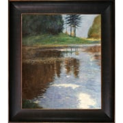 Tori Home Quiet Pond in the Park of Appeal by Klimt Framed Hand Painted Oil on Canvas