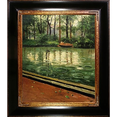 Tori Home The Yerres, Effect of Rain by Gustave Caillebotte Framed Original Painting