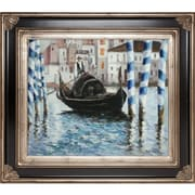 Tori Home The Grand Canal, Venice II by Manet Framed Hand Painted Oil on Canvas