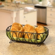 Spectrum Diversified Leaf Bread Basket; Black