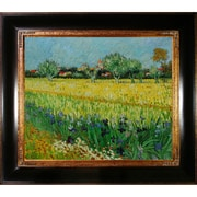 Tori Home View of Arles with Irises by Van Gogh Framed Hand Painted Oil on Canvas