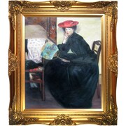 Tori Home Model with a Japanese Fan by Alfred Henry Maurer Framed Hand Painted Oil on Canvas