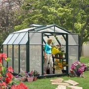 Rion Hobby Gardener 2 Twin Wall 8.5 Ft. W x 8.5 Ft. D Polycarbonate Greenhouse