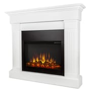 Real Flame Slim Crawford Wall Mount Electric Fireplace; White
