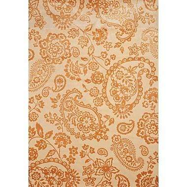 Abacasa Sonoma Tangerine/Ivory Area Rug; 7'10'' x 11'2''