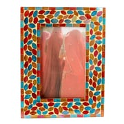 Novica Kamal Artisan Diwali Muse Glass Photo Frame