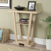 Convenience Concepts Newport Console Table III; Weathered White
