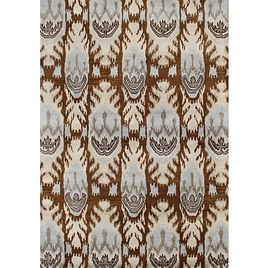 James Bond Alliyah Sugar Brown Ikat Area Rug