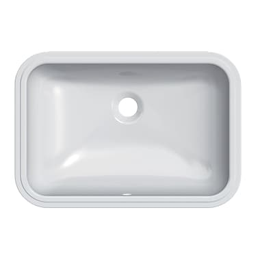 GSI Collection Panorama Rectangular Ceramic Undermount Bathroom Sink w/ Overflow