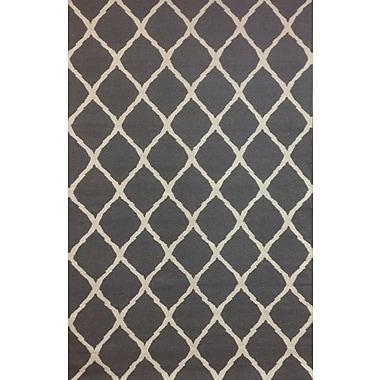 Abacasa Tangier Grey & Ivory Diamond Area Rug; 8' x 10'