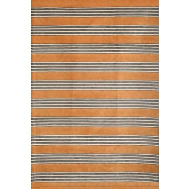 Abacasa Sonoma Tangerine/Gray/Ivory Area Rug; 5'3'' x 7'6''