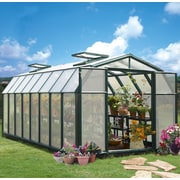 Rion Hobby Gardener 2 Twin Wall 8 Ft. W x 16 Ft. D Greenhouse