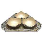Kindwer 3 Piece Bowl and Triangular Tray Set