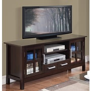 Simpli Home Kitchener TV Stand in Dark Walnut