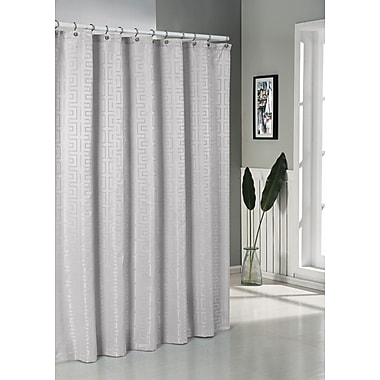 DR International Schillman Shower Curtain; Silver