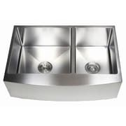 eModern Decor Ariel 33'' x 21'' 60/40 Double Bowl Farmhouse Kitchen Sink