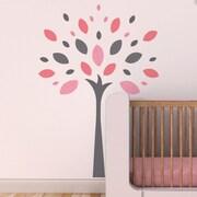 Trendy Peas Joy Tree Wall Decal; Gray / Pink / Strawberry