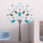 Trendy Peas Joy Tree Wall Decal; Gray / Teal / Aqua