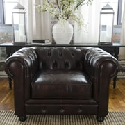 Elements Fine Home Furnishings Estate Top Grain Leather Standard Arm Chair