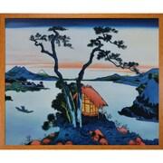 Tori Home Lake Suwa in the Shinano Province by Katsushika Hokusai Framed Hand Painted Oil on Canvas