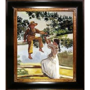 Tori Home On the Fence by Winslow Homer Framed Hand Painted Oil on Canvas