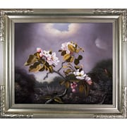 Tori Home Apple Blossoms and Hummingbird by Martin Johnson Heade Framed Hand Painted Oil on Canvas