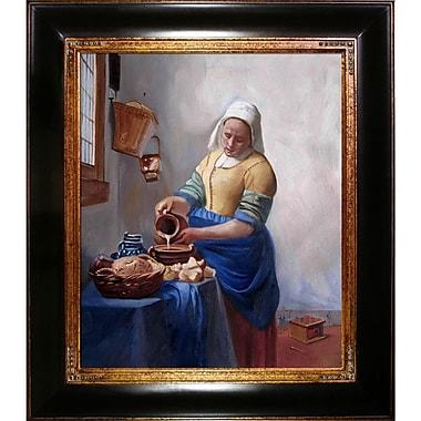 Tori Home The Milkmaid by Johannes Vermeer Framed Original Painting