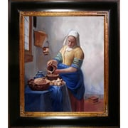 Tori Home The Milkmaid by Vermeer Framed Hand Painted Oil on Canvas