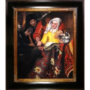 Tori Home Procuress by Vermeer Framed Hand Painted Oil on Canvas