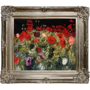 Tori Home Poppies by John Singer Sargent Framed Painting Print