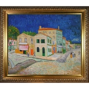Tori Home Vincent's House in Arles (The Yellow House) by Van Gogh Framed Hand Painted Oil on Canvas