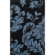 James Bond Alliyah Quill Feathers Black/ Charcoal Area Rug