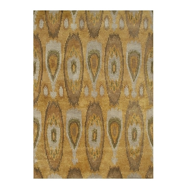 James Bond Alliyah Tobacco Brown Ikat Area Rug; 8' x 10'