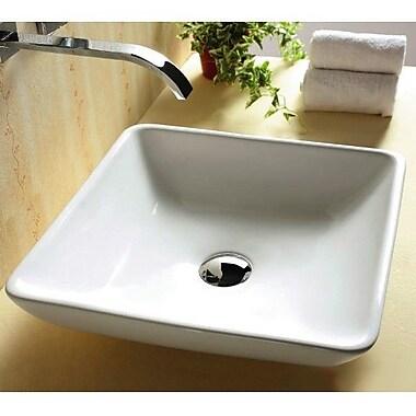 Caracalla Ceramica Rectangular Ceramic Vessel Bathroom Sink