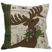 Xia Home Fashions Reindeer w/ Applique Suede Throw Pillow