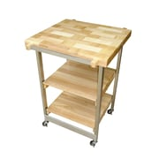 Oasis Concepts Kitchen Cart with Wood Top