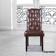 NOYA USA Parsons Chair (Set of 2); Espresso