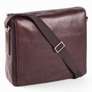 Clava Leather Tuscan Messenger Bag; Caf