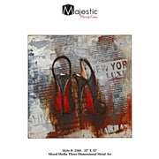 Majestic Mirror New York Black and Red Bottom Chic Stiletto High Heel Fashion 3D Metal Wall Art