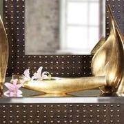 Howard Elliott Striped Wood Decorative Bowl
