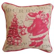 Xia Home Fashions Saint Nick Christmas w/ Printed Burlap Throw Pillow