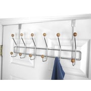 Home Basics Over The Door 6 Hook Towel Rack